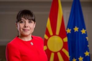 Mila Carovska, Ministre e Punës dhe Politikës Sociale. Foto: Qeveria e RM-së.