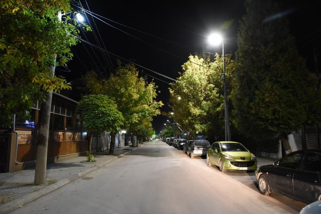 Rrugët kryesore në Tetovë me ndriçim rrugor LED. Foto: Facebook faqja e kryetares Teuta Arifi