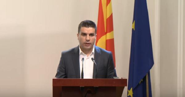 Prezantimi i ministrit Ljupço Nikollovski. Foto: Screenshot prej ueb-faqes së Qeverisë së RM-se.