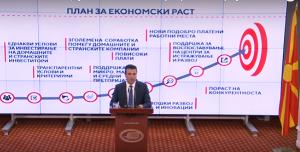 Kryeministri Zaev e prezanton Planin. Foto: screenshot