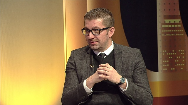 Hristijan Mickoski – what should a party statute be comprised of? Photo: Screenshot
