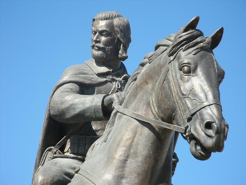 Отстранетото спомен-обележје на Борис Сарафов од пред МНР. Фото: Википедија