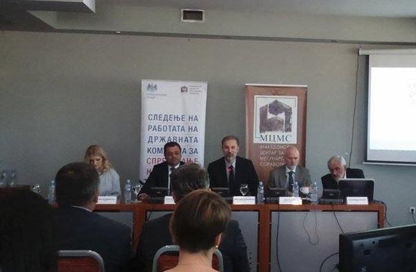 Prezantimi i raportit për vlerësim të korrupsionit në Maqedoni. Foto: Vërtetmatësi