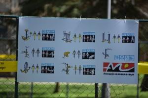 Првата  фитнес зона опремена со 8 справи за вежбање започна да се гради во Карпош 4  Фото: Општина Карпош