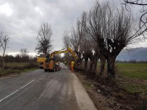 На 15 март започна реконструкцијата на оваа сообраќајна делница во должина од пет километри Фото: opstinajegunovce.gov.mk