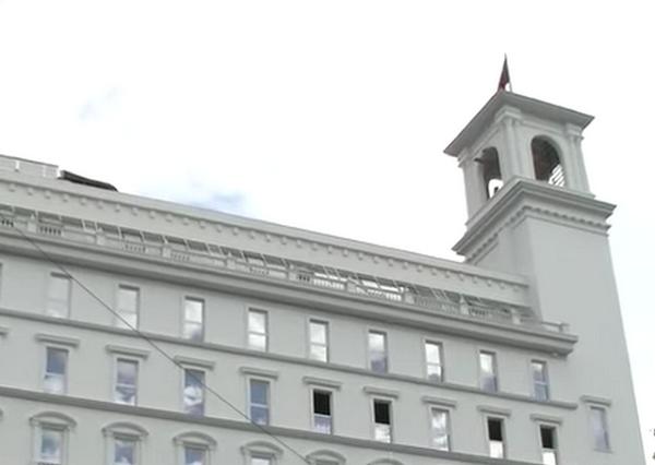 VMRO-DPMNE pjesë e ndërtesës. Foto: META