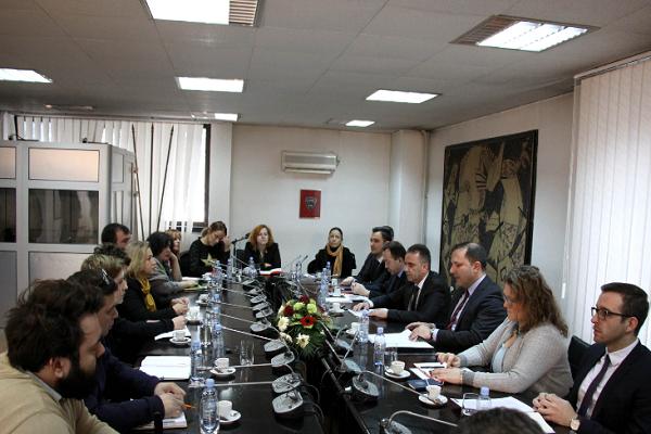 Министерот Спасовски во март се сретна со претставници на невладините организации кои беа под истрага покрената на барање на Антикорупциската комисија Фото: Принтскрин