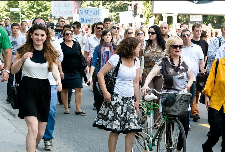 Protestë gazetarësh Foto:  flickr.com - Vanço Xhambaski