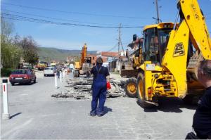 Градежни активности на  влезот во Битола од страната на Прилеп Фото:  bitola.gov.mk