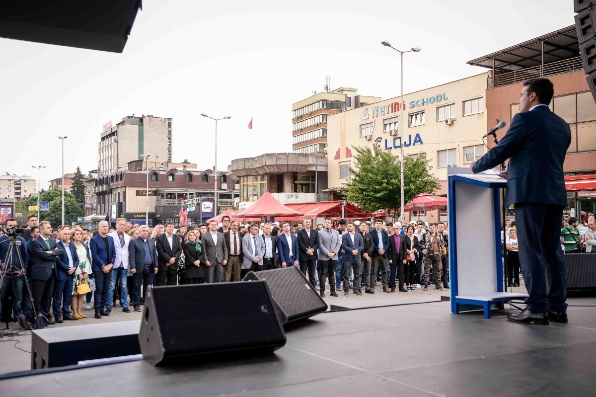 Kryeministri Zoran Zaev në Tetovë (11.05.2018) Foto: Qeveria e RM-së