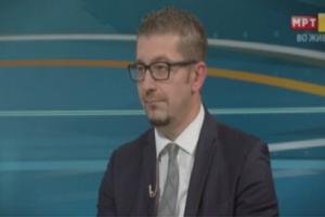 Hristijan Mickoski në TV duelin në RTVM (23.05.2018) Foto: ueb-faqja e VMRO-DPMNE-së