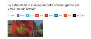 Никој не вели дека активисти на ДУИ пишувале графити за ВМРО во Тетово